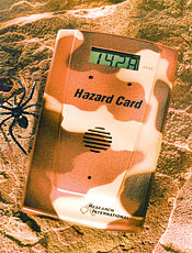Hazard Card personal hazardous gas monitor