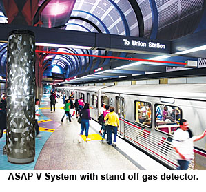 ASAP V system with stand off gas detection.