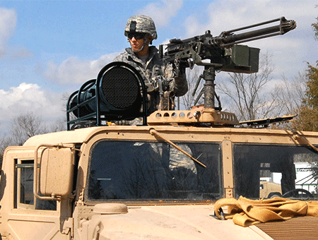 SASS 4200 installed on military vehicle